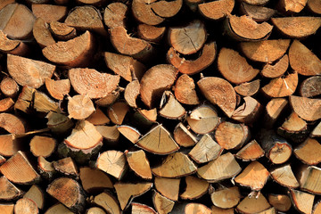 stapled chimney  wood background