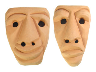 Sardinia Earthen Masks
