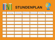 Stundenplan orange