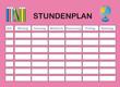 Stundenplan in pink