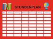 Stundenplan in rot