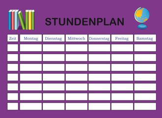 Stundenplan in lila