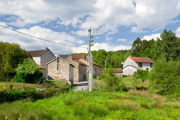 Small typical hamlet in France