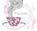 coffee and tea mug with pattern. Cup background.
