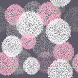 Fototapety Seamless floral pattern. Background with flowers.