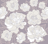 Seamless floral pattern. Background with flowers - 34442890