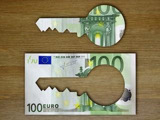 Geldschein Schlüssel