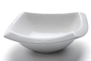 Placa, plato en fondo Blanco
