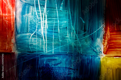 colorful abstraction of glass