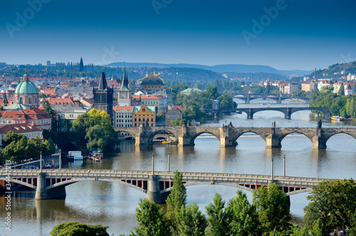 Canvas Praag Ponts dans Prague