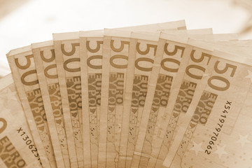 money, 50 euro banknotes