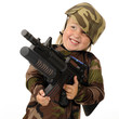 Delighted with Toy Machine Gun