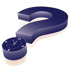 Clock as point of question mark