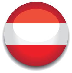 austria flag in a button