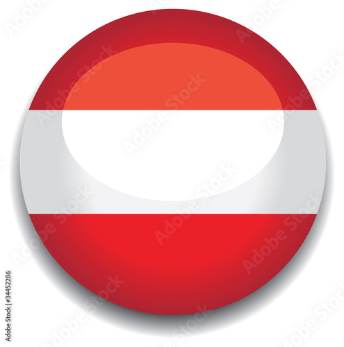 austria flag in a button