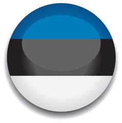 estonia flag in a button