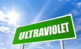 Ultraviolet warning sign poster