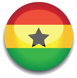ghana flag in a button