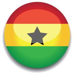ghana flag in a button