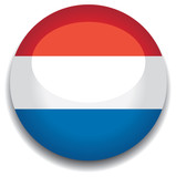 luxembourg flag in a button