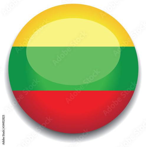 lithuania flag in a button