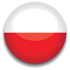poland flag in a button