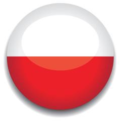 poland flag in a button