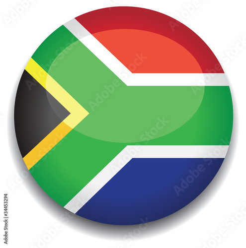 south africa flag in a button