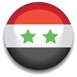 syria flag in a button