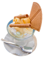 italian vanilla and lemon ice cream