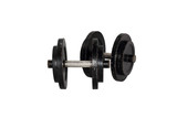 black isolated dumbbell