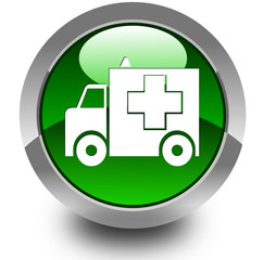 Ambulance glossy icon