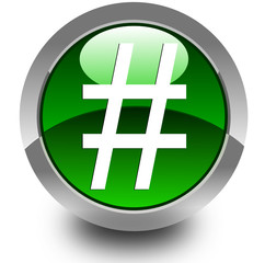 Hash glossy icon