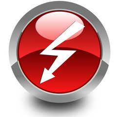 Electricity glossy icon