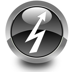High voltage glossy icon