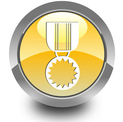 Medal glossy icon