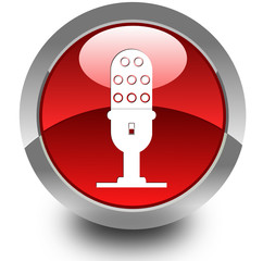Mic glossy icon