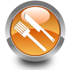 Fast food glossy icon