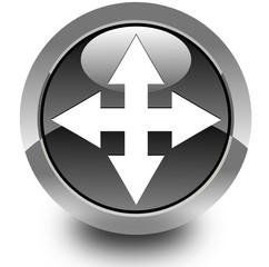 Move arrow glossy icon