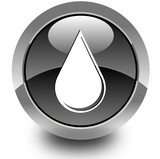 Water drop glossy icon