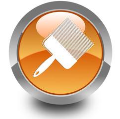 Paint brush glossy icon