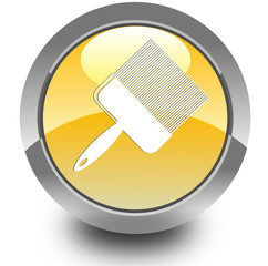 Paint brush glossy icon