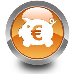 Money box glossy icon