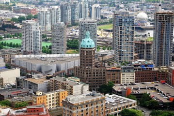 Downtown Vancouver Aerial View  in Canada