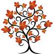 ������, ������: Castagno Albero Astratto Abstract Chestnut Tree Vector