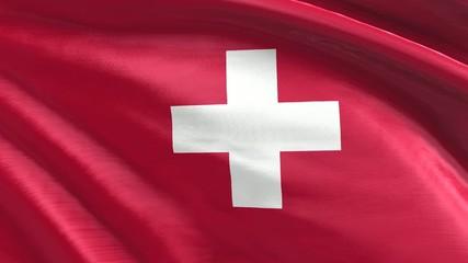 Nahtlos wiederholende Flagge Schweiz