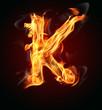"""Fire letter """"K"""""""