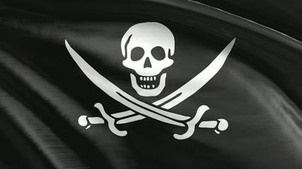 Nahtlos wiederholende Flagge Piraten