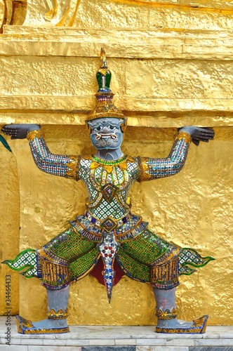 Antique Thai doll of Giant