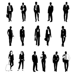 silhouetten Business People